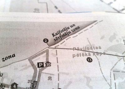 Pāvilosta - Labrags: drukas kļūda Pāvilostas TIC kartē