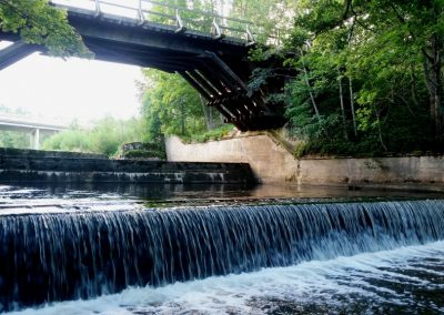 Pāvilosta - Labrags: Rīvas upe un tilts