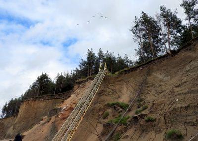 Pāvilosta - Labrags: stabilas kāpnes posmā Strante - Ulmale (Foto: Inese Andersone)