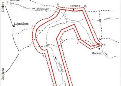Kalamecu un Markuzu gravas shēma