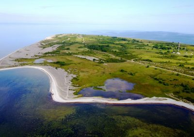 Salā ir gan lagūnas, gan purvi un daudz jo daudz akmeņu (Foto: Zaiga Kaire)