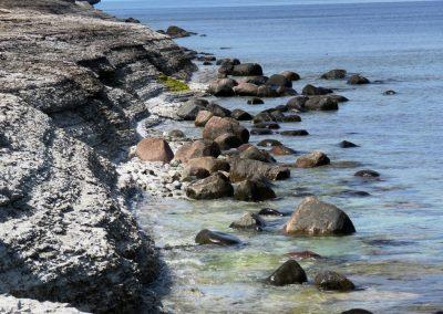 Salā atrodams liels skaits dažādu akmeņu (Foto: Zaiga Kaire)