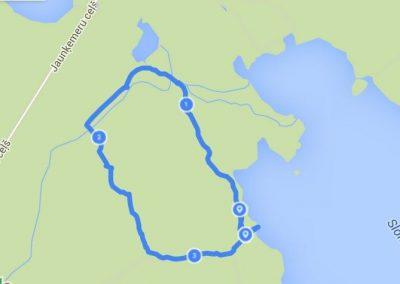 Takas kopējais garums ir 3,5 kilometri